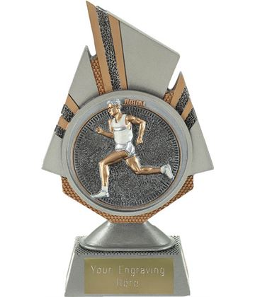 "Shard Male Running Trophy 17.5cm (6.75"")"