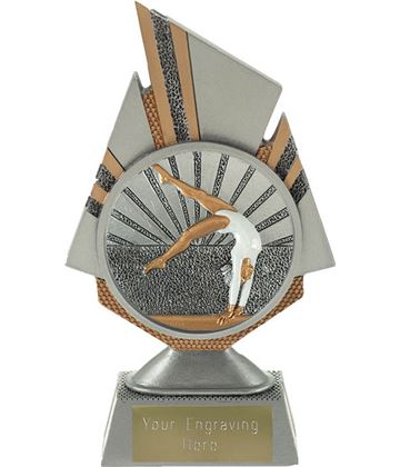 "Shard Female Gymnastics Trophy 17.5cm (6.75"")"