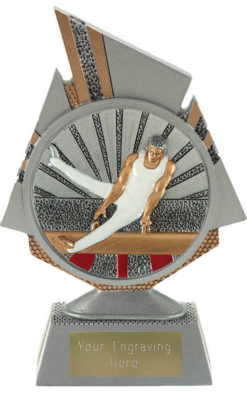 "Shard Male Gymnastics Trophy 15cm (6"")"