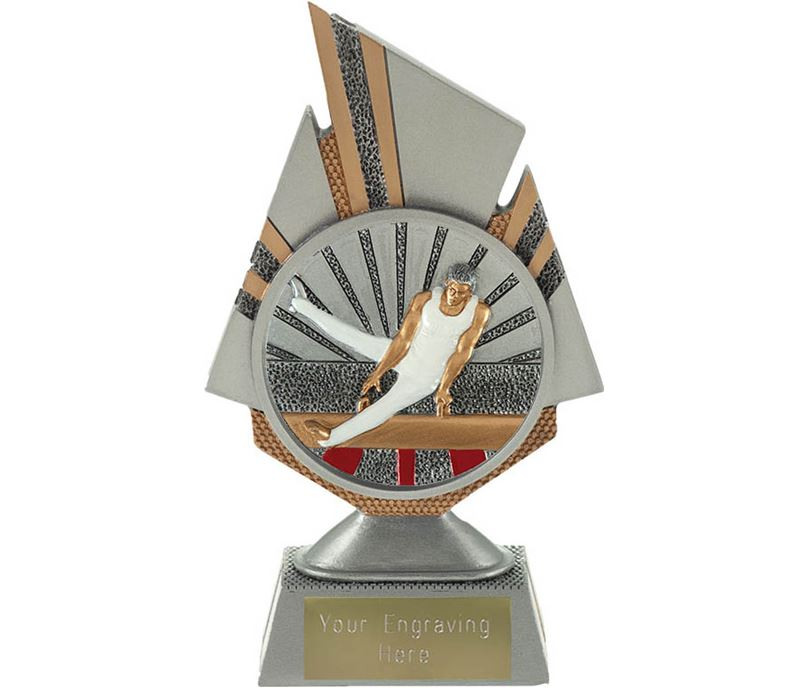 """Shard Male Gymnastics Trophy 17.5cm (6.75"""")"""