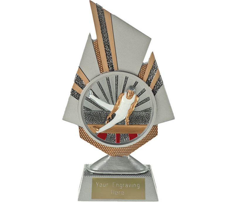 """Shard Male Gymnastics Trophy 19.5cm (7.75"""")"""