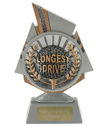 "Shard Longest Drive Golf Trophy 15cm (6"")"