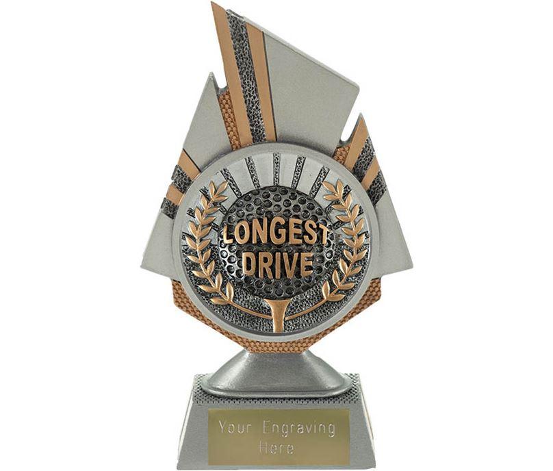 "Shard Longest Drive Golf Trophy 17.5cm (6.75"")"
