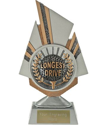 "Shard Longest Drive Golf Trophy 19.5cm (7.75"")"