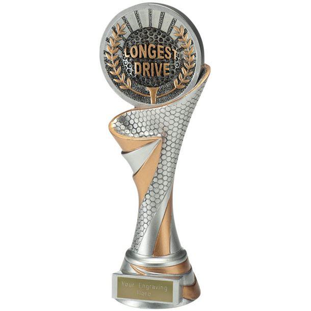 "Reach Longest Drive Golf Trophy 22.5cm (8.75"")"