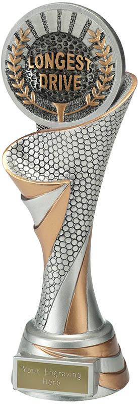 "Reach Longest Drive Golf Trophy 24.5cm (9.5"")"