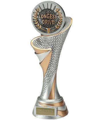 "Reach Longest Drive Golf Trophy 26cm (10.25"")"