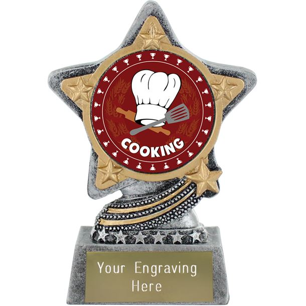 "Cooking Trophy by Infinity Stars Antique Silver 10cm (4"")"