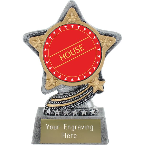 """Red House Trophy by Infinity Stars Antique Silver 10cm (4"""")"""
