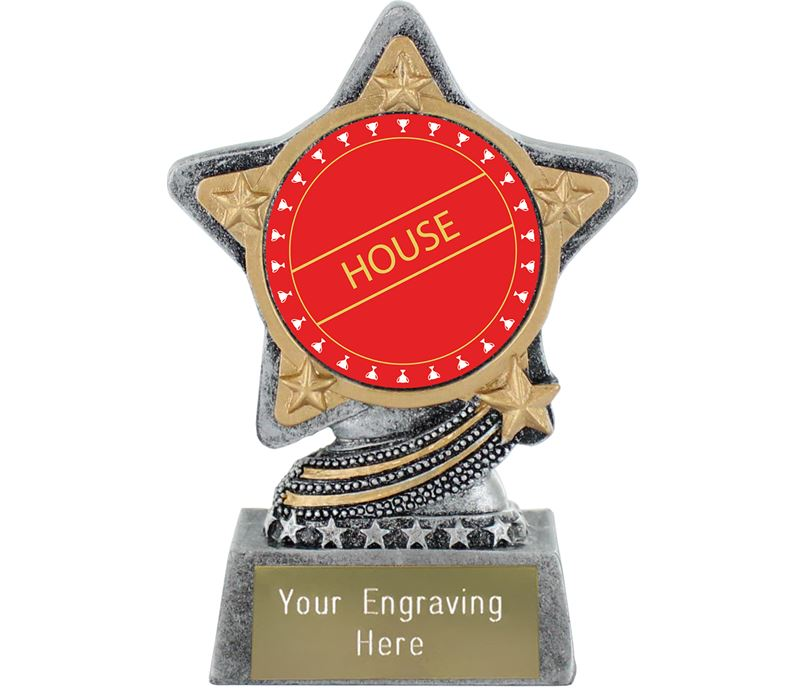 "Red House Trophy by Infinity Stars Antique Silver 10cm (4"")"