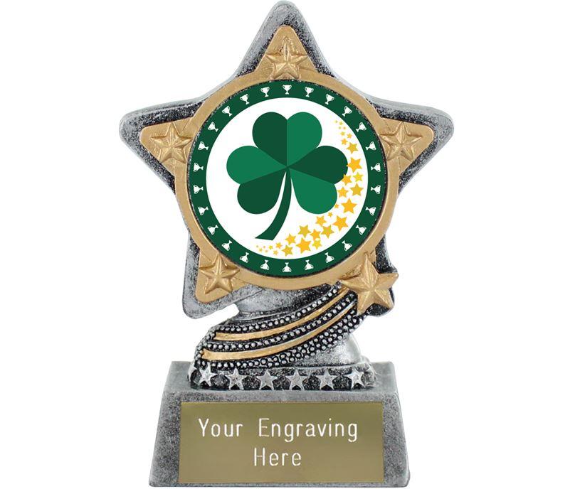 "Irish Trophy by Infinity Stars Antique Silver 10cm (4"")"