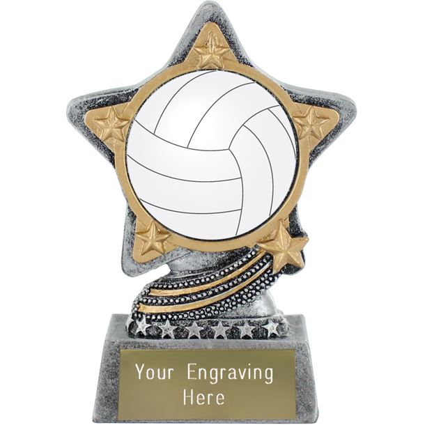 """Centre Gaelic Football Trophy by Infinity Stars Antique Silver 10cm (4"""")"""