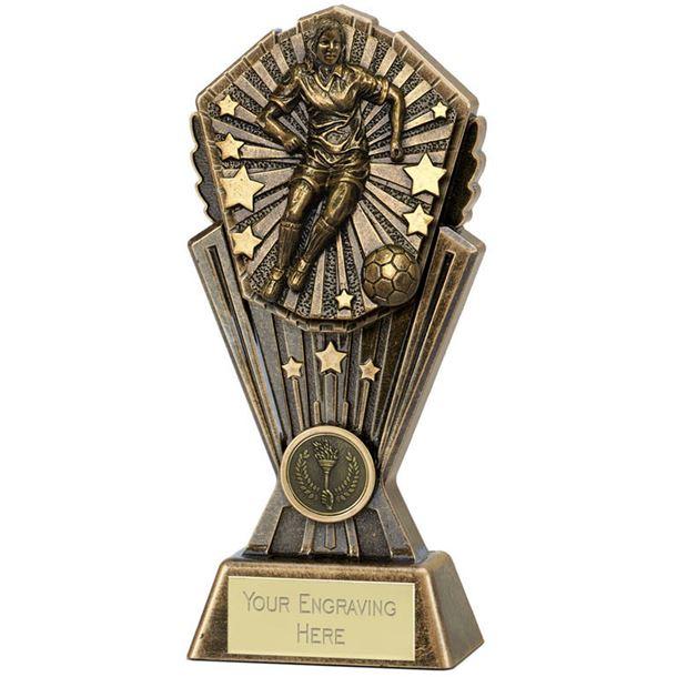 """Cosmos Female Football Trophy 17.5cm (7"""")"""