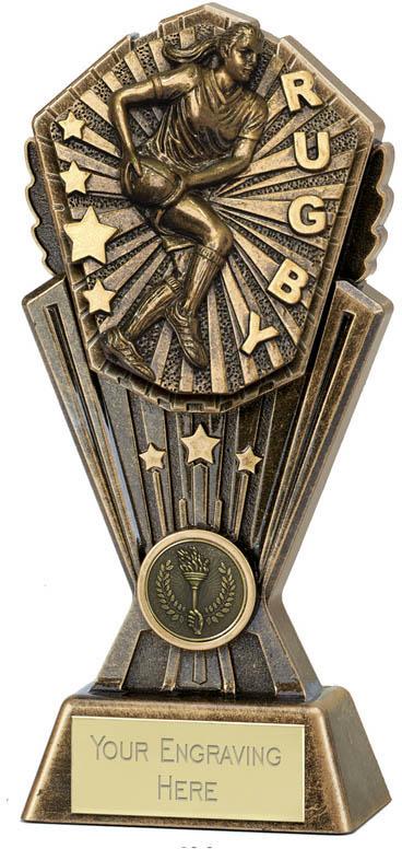 """Cosmos Female Rugby Trophy 17.5cm (7"""")"""