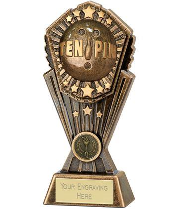 """Cosmos TenPin Bowing Trophy 17.5cm (7"""")"""