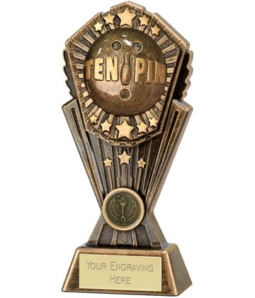 """Cosmos TenPin Bowing Trophy 20cm (8"""")"""