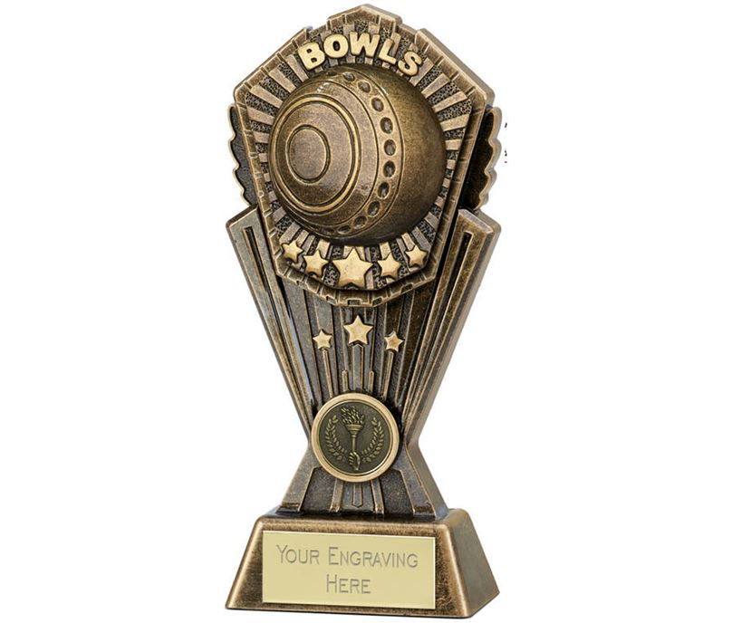"""Cosmos Lawn Bowls Trophy 20cm (8"""")"""