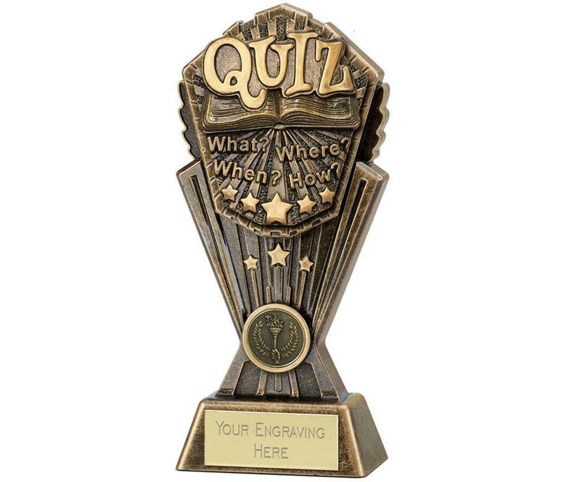 """Cosmos Quiz Trophy 17.5cm (7"""")"""