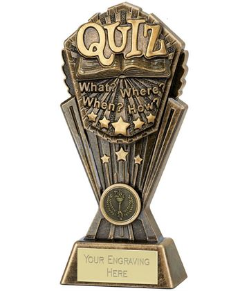 """Cosmos Quiz Trophy 20cm (8"""")"""