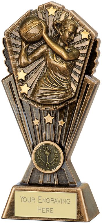 "Cosmos Netball Trophy 20cm (8"")"