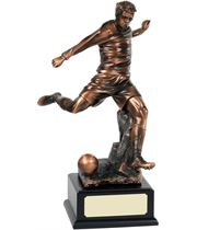 """Bronze Plated Football Player Action Trophy 54.5cm (21.5"""")"""
