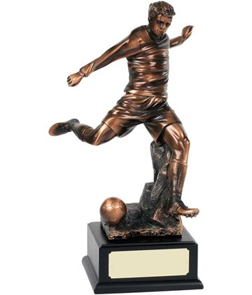 "Bronze Plated Football Player Action Trophy 54.5cm (21.5"")"