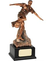 """Bronze Plated Football Player Action Trophy 25.5cm (10"""")"""