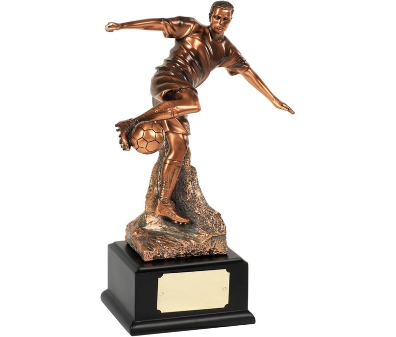 "Bronze Plated Football Player Action Trophy 25.5cm (10"")"