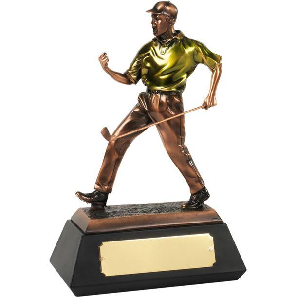 """Bronze Plated Match Winner Golf Trophy 30.5cm (12"""")"""