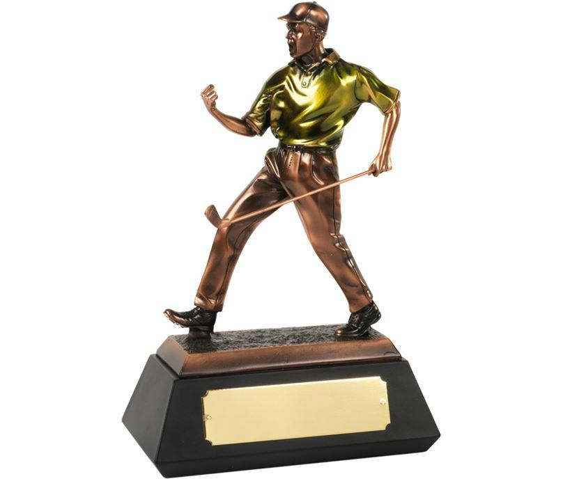 """Bronze Plated Match Winner Golf Trophy 22cm (8.75"""")"""