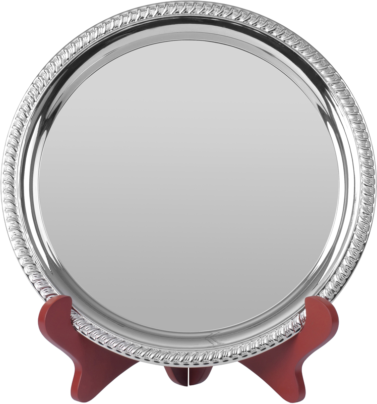"""Round Nickel Plated Cast Salver with Gadroon Edge 20.5cm (8"""")"""