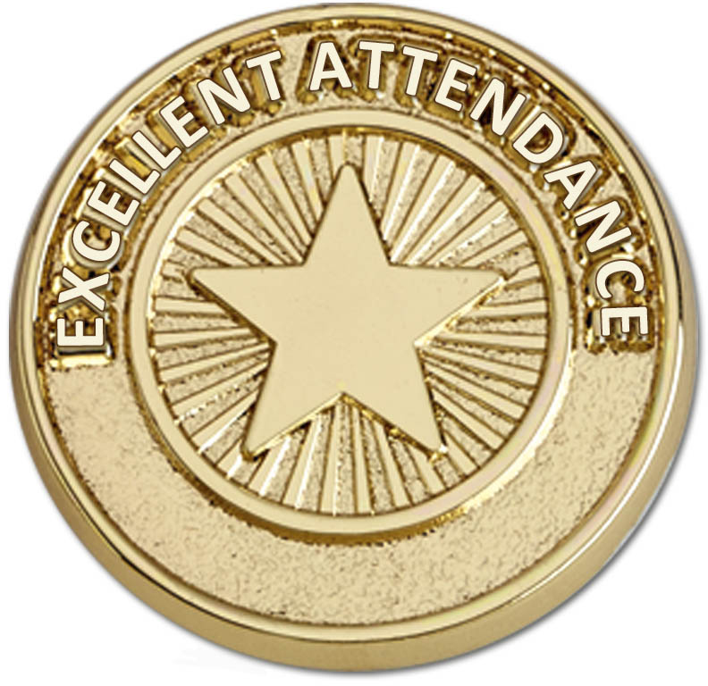 Attendance Pin Badge 20mm