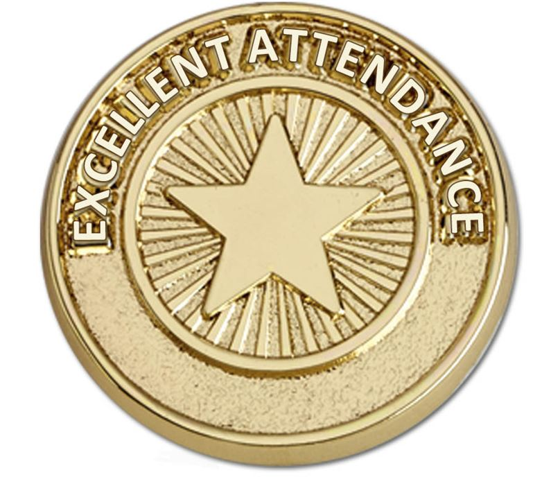 Attendance Pin Badge 20mm