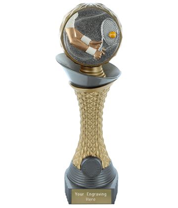 "Tennis Trophy Heavyweight Hemisphere Tower Silver & Gold 25.5cm (10"")"