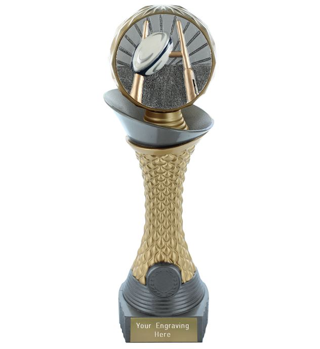 "Rugby Trophy Heavyweight Hemisphere Tower Silver & Gold 30.5cm (12"")"