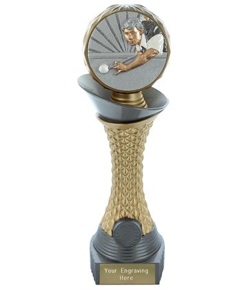 "Snooker Trophy Heavyweight Hemisphere Tower Silver & Gold 25.5cm (10"")"