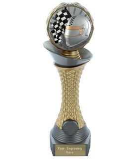 "Motorsport Trophy Heavyweight Hemisphere Tower Silver & Gold 30.5cm (12"")"