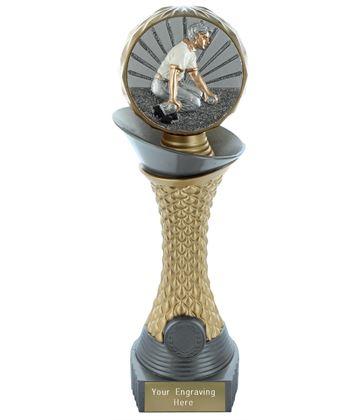 "Bowls Trophy Heavyweight Hemisphere Tower Silver & Gold 30.5cm (12"")"