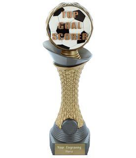 "Top Goal Scorer Trophy Heavyweight Hemisphere Tower Silver & Gold 23cm (9"")"