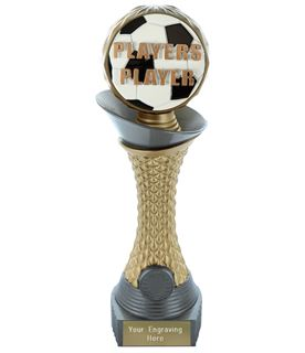 """Players Player Trophy Heavyweight Hemisphere Tower Silver & Gold 23cm (9"""")"""