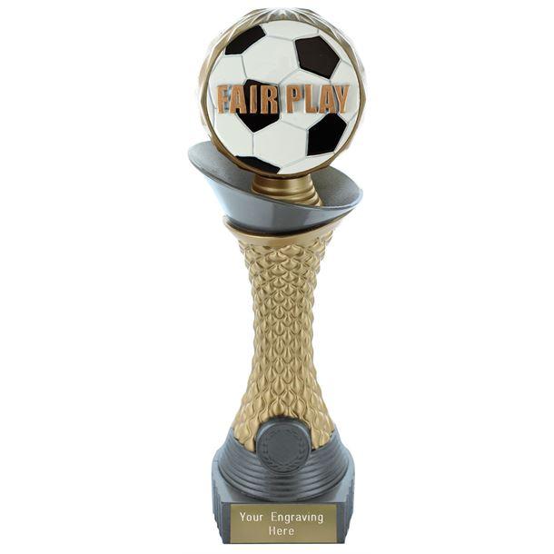 "Fair Play Trophy Heavyweight Hemisphere Tower Silver & Gold 23cm (9"")"