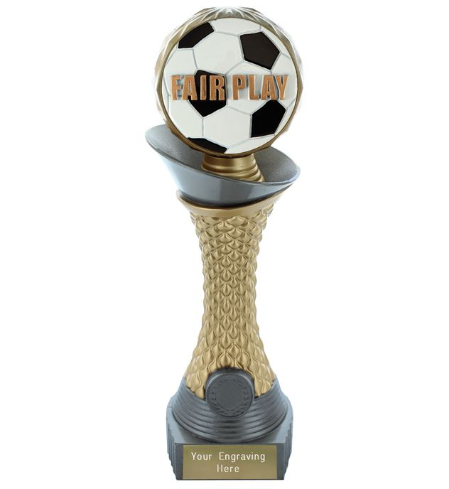 "Fair Play Trophy Heavyweight Hemisphere Tower Silver & Gold 25.5cm (10"")"