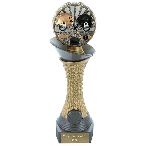 "Ice Hockey Trophy Heavyweight Hemisphere Tower Silver & Gold 25.5cm (10"")"