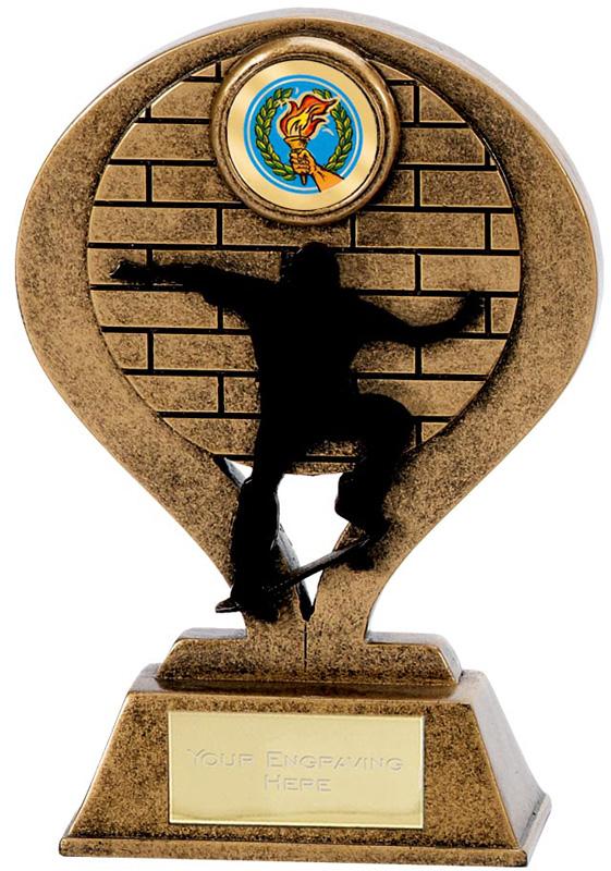 "Shadowline Resin Skateboarding Trophy 12cm (4.75"")"