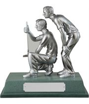 "Silver Finished Resin Golfers Trophy on Large Base 15cm (6"")"