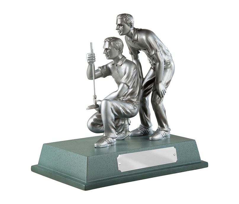 """Silver Finished Resin Golfers Trophy on Large Base 20.5cm (8"""")"""