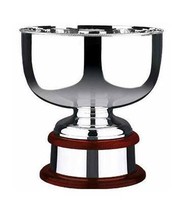 "Plain Silver Plated Presentation Bowl with Gadroon Edge 31cm (12.25"")"