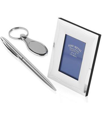 Ball Point Pen, Photo Frame & Keyring Gift Set