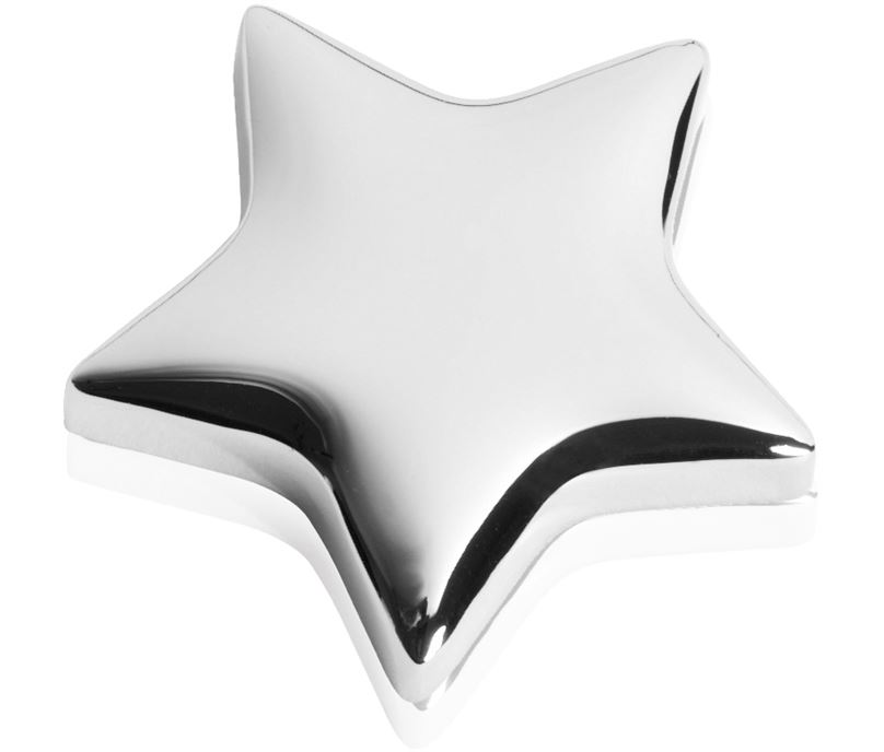 "High Polished Silver Metal Star Memo Magnet 4cm (1.5"")"