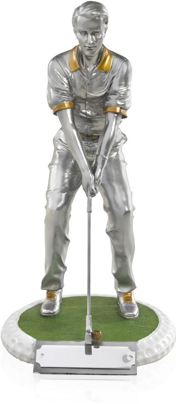 "Male Golfer Standing on a Golf Ball Base 17.5cm (7"")"